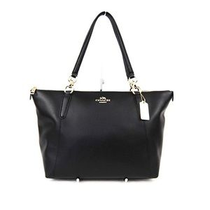 NWT Coach Ava Black Leather Tote Handbag
